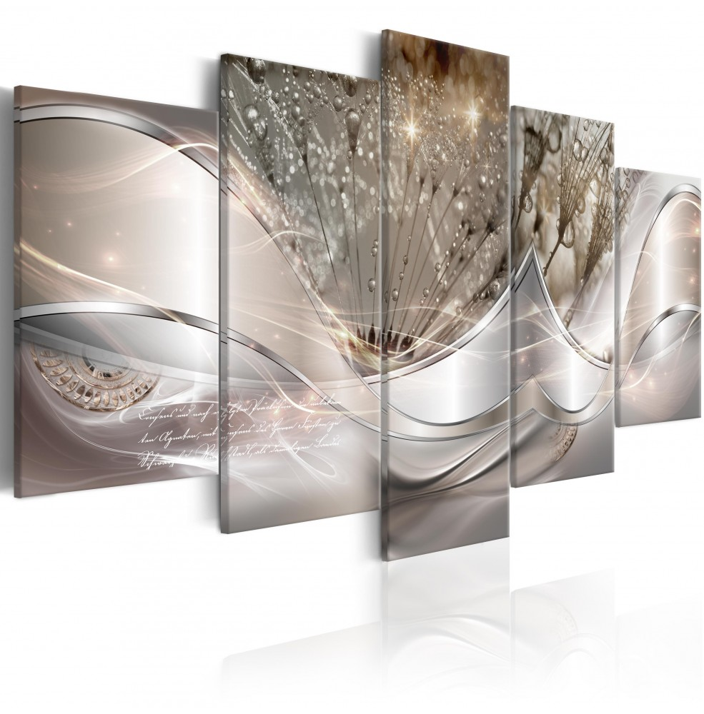 Toile Imprimée HD Abstrait Fleurs 200x100cm